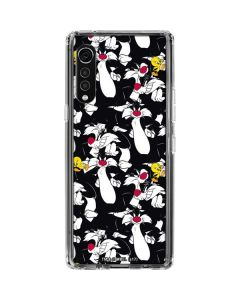 Sylvester and Tweety Super Sized LG Velvet Clear Case