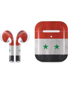 Syria Flag Distressed Apple AirPods 2 Skin