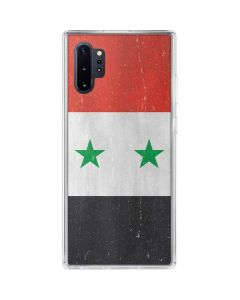 Syria Flag Distressed Galaxy Note 10 Plus Clear Case
