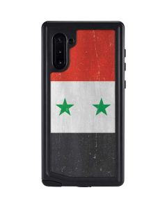 Syria Flag Distressed Galaxy Note 10 Waterproof Case