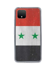 Syria Flag Distressed Google Pixel 4 Clear Case