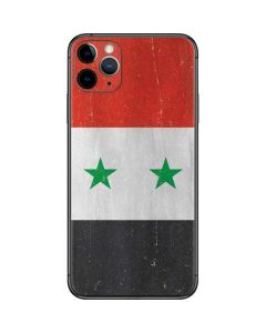 Syria Flag Distressed iPhone 11 Pro Max Skin