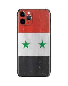 Syria Flag Distressed iPhone 11 Pro Skin