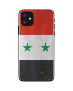 Syria Flag Distressed iPhone 11 Skin