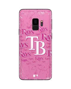 Tampa Bay Rays - Pink Cap Logo Blast Galaxy S9 Skin