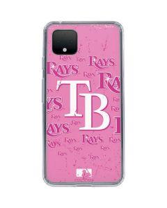 Tampa Bay Rays - Pink Cap Logo Blast Google Pixel 4 Clear Case