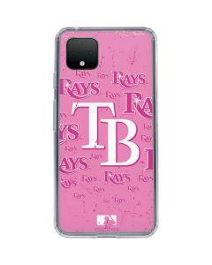 Tampa Bay Rays - Pink Cap Logo Blast Google Pixel 4 XL Clear Case