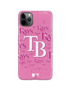 Tampa Bay Rays - Pink Cap Logo Blast iPhone 11 Pro Max Lite Case