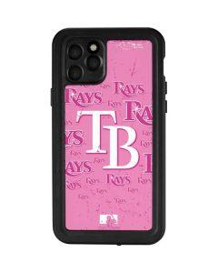 Tampa Bay Rays - Pink Cap Logo Blast iPhone 11 Pro Waterproof Case