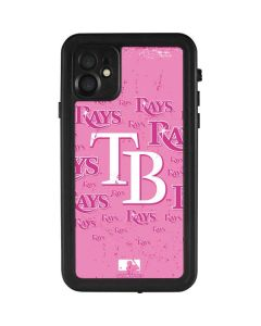 Tampa Bay Rays - Pink Cap Logo Blast iPhone 11 Waterproof Case