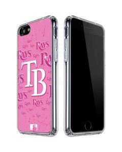 Tampa Bay Rays - Pink Cap Logo Blast iPhone SE Clear Case