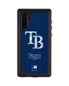 Tampa Bay Rays - Solid Distressed Galaxy Note 10 Waterproof Case