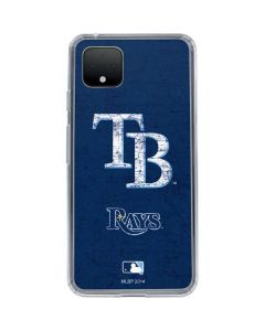 Tampa Bay Rays - Solid Distressed Google Pixel 4 Clear Case