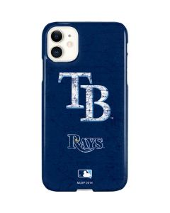 Tampa Bay Rays - Solid Distressed iPhone 11 Lite Case