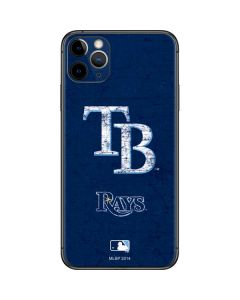 Tampa Bay Rays - Solid Distressed iPhone 11 Pro Max Skin