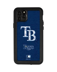 Tampa Bay Rays - Solid Distressed iPhone 11 Pro Max Waterproof Case