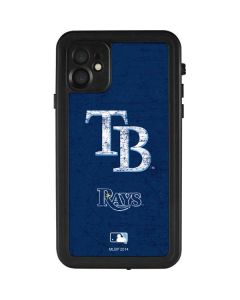 Tampa Bay Rays - Solid Distressed iPhone 11 Waterproof Case