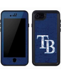 Tampa Bay Rays - Solid Distressed iPhone 8 Waterproof Case