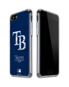 Tampa Bay Rays - Solid Distressed iPhone SE Clear Case