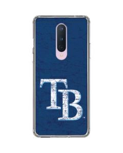 Tampa Bay Rays - Solid Distressed OnePlus 8 Clear Case