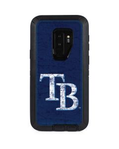 Tampa Bay Rays - Solid Distressed Otterbox Defender Galaxy Skin
