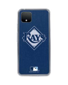 Tampa Bay Rays Monotone Google Pixel 4 XL Clear Case