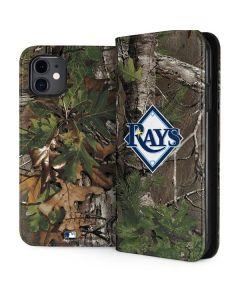 Tampa Bay Rays Realtree Xtra Green Camo iPhone 11 Folio Case