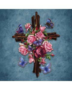 Flower Cross Amazon Kindle Skin