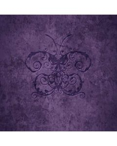 Purple Damask Butterfly Generic Laptop Skin