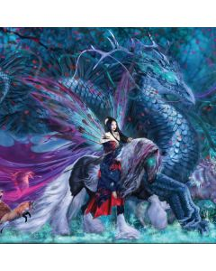Ride of the Yokai Fairy and Dragon Apple MacBook Pro Skin