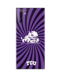 TCU Horned Frogs Mascot Swirl Galaxy Note 10 Skin