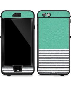 Teal and Grey Stripes LifeProof Nuud iPhone Skin