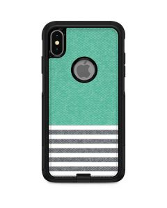 Teal and Grey Stripes Otterbox Commuter iPhone Skin