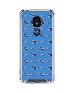 Tennessee Titans Blitz Series Moto G7 Power Clear Case