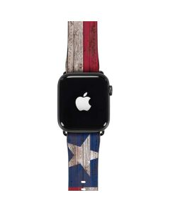 Texas Flag Dark Wood Apple Watch Case