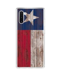 Texas Flag Dark Wood Galaxy Note 10 Clear Case