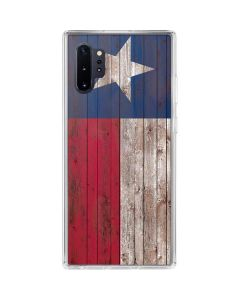 Texas Flag Dark Wood Galaxy Note 10 Plus Clear Case