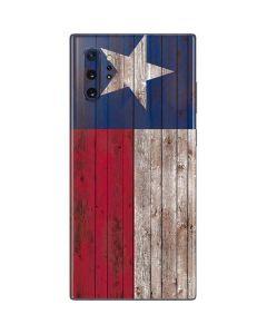 Texas Flag Dark Wood Galaxy Note 10 Plus Skin