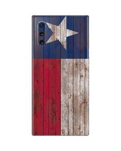 Texas Flag Dark Wood Galaxy Note 10 Skin