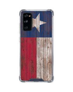 Texas Flag Dark Wood Galaxy S20 FE Clear Case