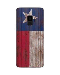 Texas Flag Dark Wood Galaxy S9 Skin