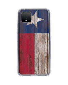 Texas Flag Dark Wood Google Pixel 4 XL Clear Case