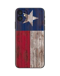 Texas Flag Dark Wood iPhone 11 Skin