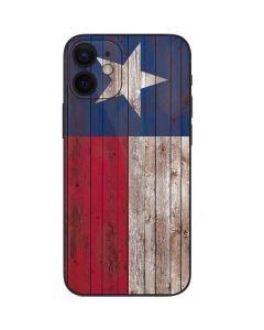 Texas Flag Dark Wood iPhone 12 Mini Skin