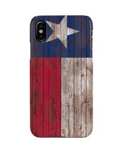 Texas Flag Dark Wood iPhone XS Max Lite Case