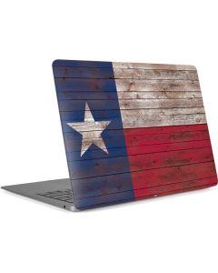 Texas Flag Dark Wood Apple MacBook Air Skin