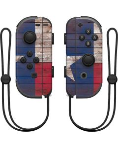 Texas Flag Dark Wood Nintendo Joy-Con (L/R) Controller Skin