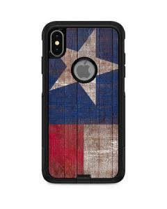 Texas Flag Dark Wood Otterbox Commuter iPhone Skin