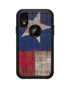 Texas Flag Dark Wood Otterbox Defender iPhone Skin
