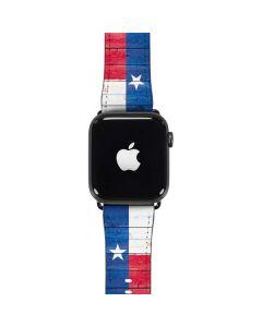 Texas Flag Light Wood Apple Watch Band 42-44mm